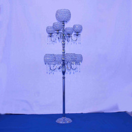 Wholesale Decoration Wedding Glass Beads - glass bead pillar stand wedding pillars wedding walkway stand