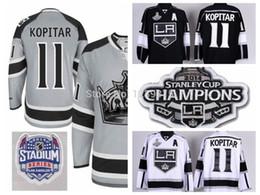 Wholesale China Grey - Men's 2014 Stadium Series Los Angeles Kings Hockey Jerseys #11 Anze Kopitar Jersey Color Ash Gray Cheap Stitched Jerseys China