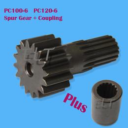 Wholesale Couples Kit - PC100-6 PC120-6 Excavator Final Drive Coupling + Spur Gear Kit TZ269B1015-00 TZ270B1006-00 TZ264B1107-00 for GM18 Travel Motor