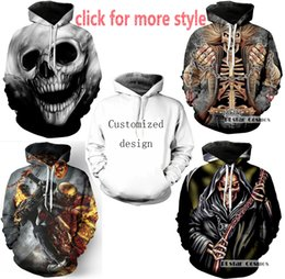 Wholesale Orange Irons - New Fashion Couples Men Women Unisex Iron Maiden and Skull 3D Print Hoodies Sweater Sweatshirt Jacket Pullover Top S-5XL TT41
