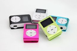 Wholesale Electronic Readers - Hot Selling LCD Screen Mini Clip Mp3 Player Electronic Sports Metal Mini MP3 Music Player Support 32GB Micro SD TF Card