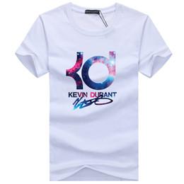 Kd camiseta on-line-Atacado-2016 nova marca de verão de basquete KD dos homens de manga curta de algodão T-shirt dos homens Hip hop Casual O Pescoço Masculino Tops Tees livre