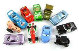 Wholesale Sally Metal - Free shipping 11Pcs Set Pixar Cars 2 Lizzie Tractor The King Chick Hicks Mcque Sally Francesco Sheriff Sarge Diecast Metal Kids