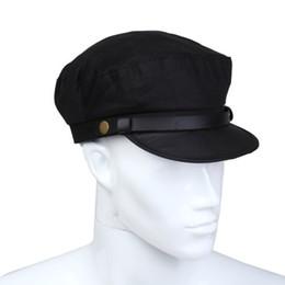 Wholesale Captains Cap - Wholesale-SYB 2016 NEW Captain Sailor Marine Cap Cotton Color Black Men New