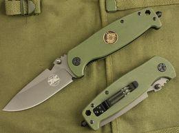 Wholesale hot browning knife - Hot sale DA-7 55HRC G10 5Cr13 folding knife Camping hunting wild gift knife free shipping 1 pcs