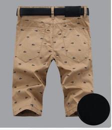 Wholesale Shorts Crotch - Korean Shorts classic Men's casual pants printing 2016 new mens zip pants luxury khaki men's shorts Low sales drop crotch mens jogger pants