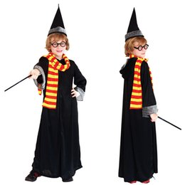 Wholesale Christmas Costumes For Teenage Boys - Halloween carnival cosplay party children fancy dress plus size harry potter costume hat for boys