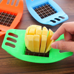 Wholesale Potato Chips Slicer - Big Promotion!! hot Stainless Steel Potato Cutter Vegetable Slicer Chopper Chips Device Fries Kitchen Cooking Tools Potato Vegetable Slicer