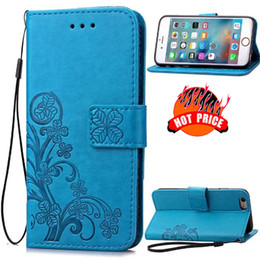 Wholesale rope edging - Lucky Clover Wallet Leather Case Pouch Stand Rope For Iphone X SE 5 5S 6S 6 Plus Samsung Galaxy S9 S7 EDGE S6 G530 G360 A510 J120 J1 Cover