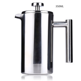 Wholesale French Press Filters - Hot Selling 350ML 800ML 1000ML Stainless Steel Cafetiere French Press With Filter Double Wall Insulation Design Polish Process