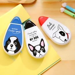Wholesale Korean Decorative Tape - Wholesale-6 pcs lot Korean stationery Kawaii My dog correction tape Cute animal big capacity decorative tape office school supplies zakka