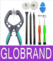 Wholesale Iphone Disassembly - NEW 10in1 Strong Suction Mobile Phone Repair Tools Kit LCD Screen Opening Pliers Tool Screwdrivers For Disassembly IPad iPhone 5 5s 6 6 GLO2