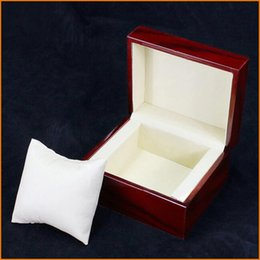 Wholesale Antique Pillows - Red Fashion watch box with pillow package case wristwatches boxes Jewelry storage gift Display Free Shipping