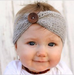Wholesale Toddler Knitted Headband - New Infant Baby Girls knit Headbands Toddler Fashion winter warm Hairbands 2016 Babies Autumn Christmas Hair Accessories