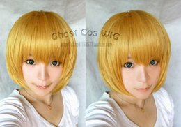 Wholesale Attack Titan Armin Wig - Free Shipping Heat Resistant >>Attack on Titan Armin Arlert Short Dark Blonde Cosplay Anime Wig 001ZAL