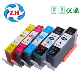 Wholesale Hp Photosmart Cartridges - ZH 5 PCS Ink Cartridges 364XL 2BK Compatible For HP364 Photosmart B210 HP B8550 C53244 C5380 C63244 C6380 D5460