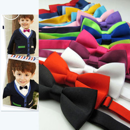 Wholesale Boys Silver Bow Tie - Boy Bow Tie For Kids Clothes Adjustable Bow Tie Fashion Children Cute Bow knot and Adjustable Bow Tie New Baby Kids Neck Tie Bow Tie