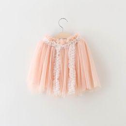 Wholesale Tutu Skirt Gauze Lace - 2016 Summer Girl Skirts Pink Gauze Lace Gauze Fluffy Fashion Skirt Children Clothing 2-7T 1909