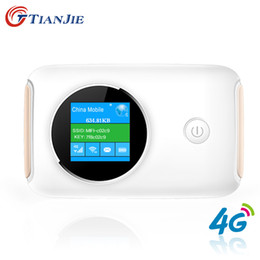 Wholesale 4g Modems - 4G Wifi Router Car Mobile Wifi Hotspot Wireless Broadband Mifi Unlocked Modem With Sim Card Slot