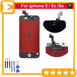 Wholesale Iphone Lcd 1pcs - black white Test Passed for Apple iphone 5g 5c 5s LCD touch screen comletely Touch screen display digitizer Assembly Replacement parts 1PCS