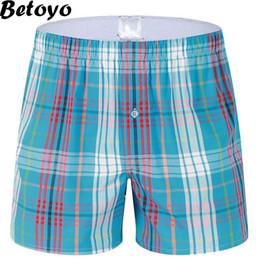Männer plaid boxer shorts unterwäsche online-Wholesale-XDK03 Männer Unterwäsche-Mann-Plaid-Boxershorts 100% Baumwolle beiläufige Schüsse der heißen Verkaufs-Marken-Qualitäts-breiten Mans Cuecas Boxer