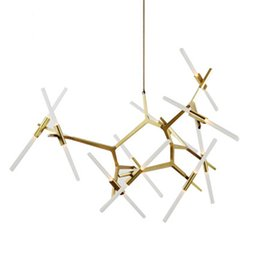 Wholesale Italian Pendant Lighting - Modern Hill Agnes Lighting Minimalist Art Decoration Branch Agnes Light Famous Italian Lamp Design Living Room Agnes Chandelier
