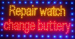 lampade a casa di senso Sconti 2016 Vendita Calda Grafica 15.5X27.5 Pollici coperta Ultra Luminoso riparazione in esecuzione orologio cambiare negozio burroso segno di led-