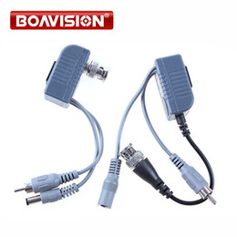 Wholesale Video Transceiver Twisted Pair - BNC Coax CCTV twisted pair Video Audio Power Balun Transceiver Cable