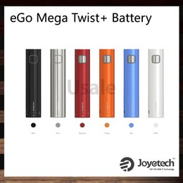 Wholesale Ego Support - Joyetech eGo Mega Twist+ Battery 2300mah Support VW and BYPASS Modes 5-30W Great Performance and Easy Operation 100% Original