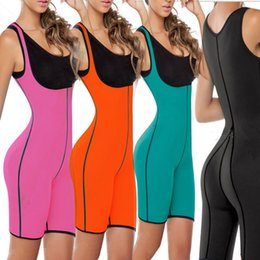 Wholesale Sports Body Suit - Both Sides Sport One Piece Body Shaper Body Suit Butt Lifter Gym Fitness Slimming Fitness Ultra Sweat Corset