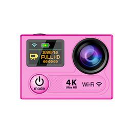 2019 tf led écran Caméras d'action ultra HD 4K H8 WIFI 360VP Full 1080P 60FPS Mini caméscopes DVR Sportif 170 Caméra de casque Caméra LCD pour objectif 2 pouces