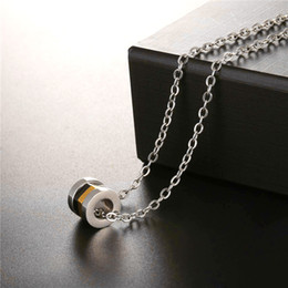 Wholesale Nut Stainless Steel - U7 Multi-layer Nuts Pendant Necklace Unique Design Stainless Steel Gold Plated Circle Pendant Jewelry For Men Gift Punk Necklace GP2537