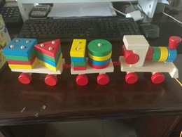 Wholesale Intelligence World - 161116 All over the world Children toy train geometry assembled block 2-6 years old baby early lesson intelligence toys