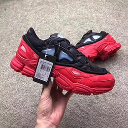 Wholesale Rubber Logos - 2017 RAF Simons Consortium Ozweego 3 III Running Shoes Sneakers With R Logo for Men Women 2018 Red Black Authentic Sneakers