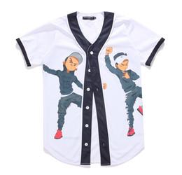 Wholesale Men Short Sleeve Over Shirt - New Arrival Fashion Hip Hop Dancing Guys Jersey 3d All Over Print Baseball T-Shirt Summer Men Cool Sport Streetwear Tops Clothes
