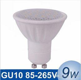 Wholesale Live Shell - NEW GU10 LED Spotlight bulb 9W SMD5730 Lampada Led Lamp Bulb Dimmable Bombillas Spot Light Ceramic Shell LED Lamps with epistar chip
