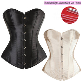 Wholesale Tops Corsets Overbust - Wholesale-Good Quality 6 Colors Lady Sexy Lace up Boned Overbust Waist Training Corset Bustier Top Waist Trainer Cincher Body Shaper S-6XL