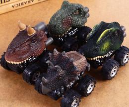 2019 jouets en plastique de chenille Le cadeau de jour des nouveaux enfants à la voiture mini-dinosaure jouet modèle voiture jouet stands vente