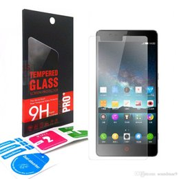 Wholesale Zte Avid - 0.33mm 2.5D 9H Tempered Glass screen Protector Film Guard For ZTE Zmax Pro Avid Trio Warp Elite Z791 Z740G N9518 Z959 N9132 Z820 retail-box