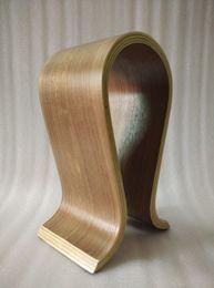 Wholesale Wooden Headphones - High Quality Wood Headphones Stand Walnut Wooden Headset Earphone Holder Headphone Display Rack Free Shipping