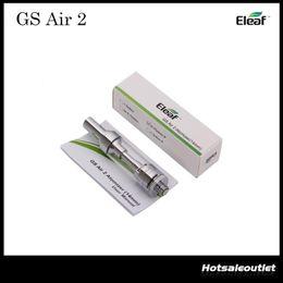 2019 sistema de gotejamento superior Capacidade autêntica do Atomizer 14mm 2ML do ar 2 de Eleaf GS para o iStick básico