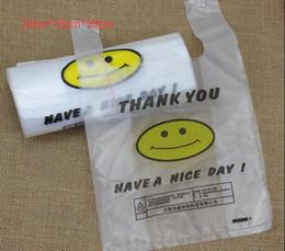 Argentina Bolsa de chaleco Supermercado Bolsas de plástico Cara de sonrisa Bolsa de compras Bolsa de embalaje Comida y bebida Sacar la bolsa de embalaje fina 3 SICK Suministro