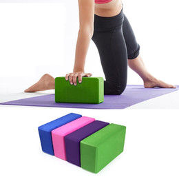 Argentina Al por mayor-Homasy EVA Yoga Block Brick Foaming Foam Inicio Ejercicio Fitness Health Gym Practice Tool cheap yoga brick exercises Suministro