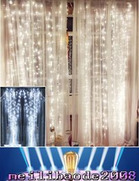 Wholesale Wholesale Christmas Garlands - NEW 4.5M x 3M 300 LED Home Outdoor Holiday Christmas Decorative Wedding xmas String Fairy Curtain Garlands Strip Party Lights MYY181
