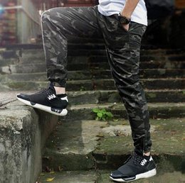 Wholesale Camouflage Pant Wide Leg - New 2017 Fanshion Mens Camo Joggers Pants Elastic Draw String Casual Camouflage Pants Millitary Black Joggers Calca Swag