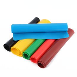 2019 runde spitzen-tischsets Wholesale-6 Farbe Silikon Backmatte Antihaft Pan Liner Placemat Tischschutz