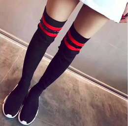 Wholesale Hook Loop Dots - 2017 New Design Women Sock Boots Free shipment Running Shoes Luxury Fall's shoes