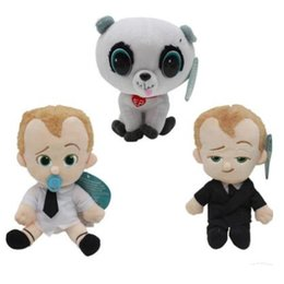 Wholesale Diapers For Kids - 3 Styles 20cm The Boss Baby Plush Dolls Soft Stuffed Toys Diaper Baby Pet Cartton Toys for Kids Party Favor CCA8051 120pcs