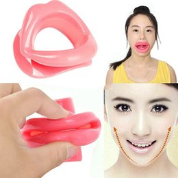 Wholesale Face Tightener - 2016 Healthy & Beauty Silicone Rubber Face Slimmer Massage Muscle Tightener Anti-Aging Anti-Wrinkle Mouth