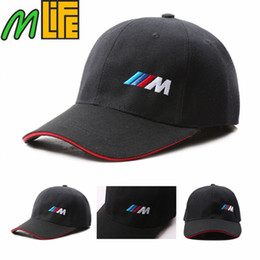 Wholesale Performance Logos - black Cotton M logo M performance car baseball hat sport hat for bmw E21 E30 E36 E46 E90 E91 E92 E93 F30 X3 X5 X6 3 Series 5 Series